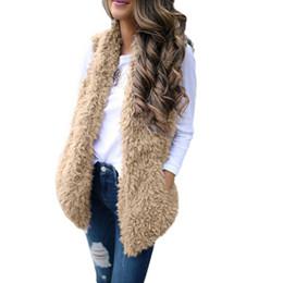 Chaleco de piel de invierno Chaleco de piel de imitación de las mujeres sin mangas de las mujeres abrigo de colete feminino de inverno Veste Femme Chaleco # XU1250 desde fabricantes