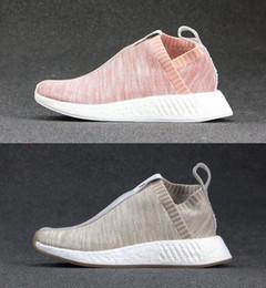 Wholesale naked original - 2018 New Originals Naked x Kith Brand Consortium NMD CS2 Primeknit Women Men Running Shoes Designer Nmds Runner City Sock Pink Girl Sneakers
