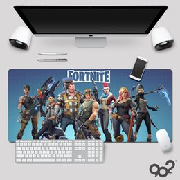 Scrivanie per pc online-Fortnite High Quality MousePad Gamer Tappetini per mouse da gioco grande Tastiera Pad per PC (800x300x3mm)