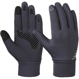 Guanti in lycra online-Vbiger Kids Winter Gloves Guanti touch screen antiscivolo Soft Outdoor Sports Warm con strisce riflettenti in silicone