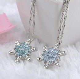 Wholesale Swiss Blue Topaz - New Hot Christmas Swiss Blue Topaz and White Sapphire Pendant