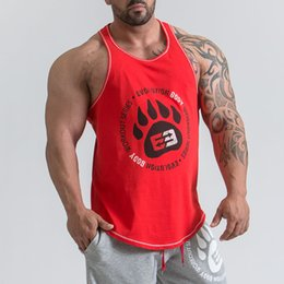 2018 Ropa de la marca Fitness Tank Top Hombre Casual Culturismo Muscle Shirt Gyms Underderhirt Moda High Quality Workout Singlets 6 Color desde fabricantes