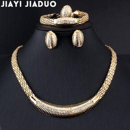 90ae99f286ba Venta enterajiayijiaduo Perlas africanas Joyería de boda Estilo de verano  Pequeños cristales Collar Pulsera Pendientes Conjunto de anillos de boda de  color ...