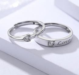 Canada 925 bijoux en argent sterling amour éternel élégant couple simple bague hommes et femmes bague accessoires de mode exquis Offre