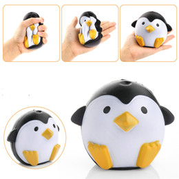 Wholesale Fun Retail - New Arrival Jumbo Squishy Penguin Kawaii Cute Animal Slow Rising Sweet Scented Vent Charms Bread Cake Kid Toy Doll Gift Fun to346