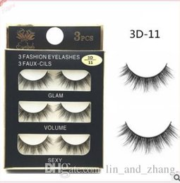 Wholesale Eyelash Extensions Mix - Can Mix Stye 3Pairs New 3D Natural Cross thick Curly Messy False Eyelashes long makeup 3D Lashes Fake Eye Lashes Extension Make Up Beauty