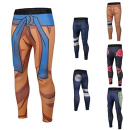 2019 yoga pants disegni Pantaloni da uomo sportivi Pantaloni da uomo Pantaloni da jogging 9 disegni Stampa 3D Naruto Dragon Ball Mens Pantaloni da yoga LA691-2 yoga pants disegni economici