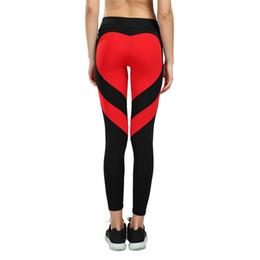 Giacche nere di calze nere online-Nero Bianco Rosso Cuore Leggings da donna Yoga Pantaloni Crossfit Calzamaglia Fitness Running Jeggings Pantaloni da palestra Legging Sport Sportwear S-3XL