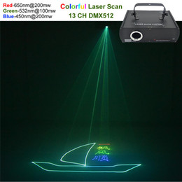 Wholesale uk animations - AUCD Red Green Blue Beam Animation Laser Professional DMX Projector 500mW Stage Lighting DJ Show Club Party Scanner Light 500RGB
