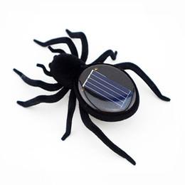 2019 insetos robôs Novidade Criativo Gadget Solar Powered Inseto Robô Aranha Do Carro Para Brinquedos de Natal das Crianças Presentes de Natal Festival desconto insetos robôs