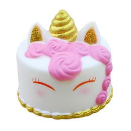 25 шт. Kawaii мультфильм единорог Squishies торт медленный рост крем ароматизированные игрушки для снятия стресса мягкие игрушки сжать AIJILE от