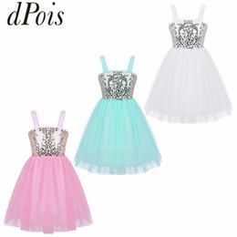 b2f01ca8c341 DPOIS Girls Sleeveless Shiny Sequins Flower Ballet Tutu Dress Kids  Dancewear Princess Ballerina Stage Contemporary Dance Costume