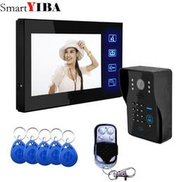 Wholesale Wired Video Intercom Doorbell Systems - SmartYIBA Video Intercom 7 Inch Monitor Wired Video Door Phone Doorbell Camera Intercom System