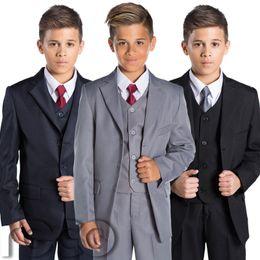 traje de niños blancos solapas de satén Rebajas Trajes para niños Trajes de boda para niños Página Niño 3 Colores 1 - 14 años