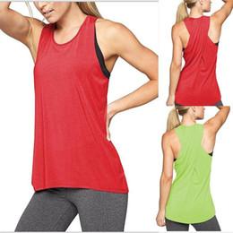 Argentina Verano 2018 moda mujer Sexy espalda cruzada Yoga chaleco cuello redondo Tops camisetas sin mangas chaleco deportivo camisa para damas envío gratis cheap crew vest Suministro
