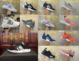 Wholesale Green Sequin Shoes - 2018 High quality Originals NMD R1 Sequins Primeknit Running Shoes men women Primeknit Sneakers Sport Shoes size36-45