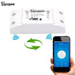 Smart home packages on-line-Sonoff Básico Wi-Fi Módulo Interruptor Inteligente DIY Interruptores Domóticos Domésticos Sem Fio Wi-fi Luz Controlador Doméstico com Pacote