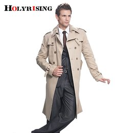 Wholesale british overcoat - Trench Coat Men Classic Double Breasted Mens Long Coat Mens Clothing Long Jackets & Coats British Style Overcoat S-6XL size