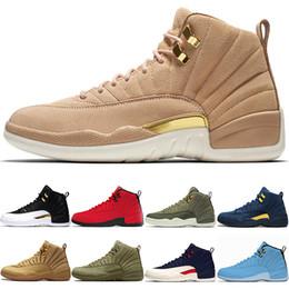 new arrivals e5c59 ca3ab großhandel college schuhe Rabatt Nike Air Jordan Retro Basketball Schuhe 12  12s Männer CP3 Bulls Universität