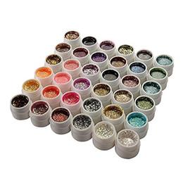 Lentejuelas de uñas de gel online-36 colores brillo lentejuelas UV Gel uñas manicura uñas arte
