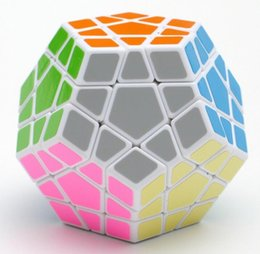 twist puzzles Coupons - 2018 Cube Shengshou Megaminx Magic Cubes Pentagon 12 Sides Gigaminx PVC Sticker Dodecahedron Toy Puzzle Twist