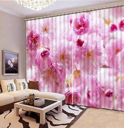 Europäische Gardinen elegante Blumen Vorhang für das Wohnzimmer Schlafzimmer Pink Blackout Fenster Vorhänge von Fabrikanten