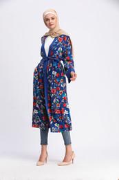 Deutschland Neue Muslimische Frauen Floral Abaya Dresss S-2XL Plus Size Islamische Frauen Langarm Maxi Kleid für Verkauf supplier maxi abaya dresses Versorgung