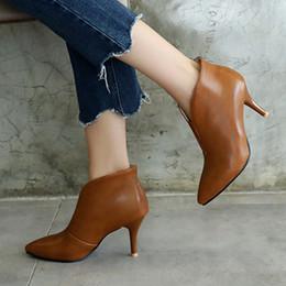 S. Romance 2018 женские сапоги плюс размер 34-43 высокие каблуки резиновые ботильоны офис дамы насосы Женская обувь женщина черный SB120 от