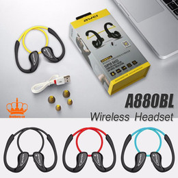 Wholesale Wireless Pc Headset Mic Stereo - Awei A880BL Bluetooth Earphone Wireless Earphones and Headphone with mic Sport Stereo Headset for Smart phone for iphone for PC