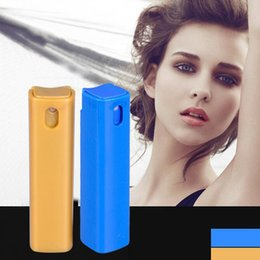 Wholesale Square Spray Bottles - 10ML Mini Portable Square Plastic Packing Bottles Refillable Perfume Bottle With Spray Cosmetic Containers With Atomizer For Traveler