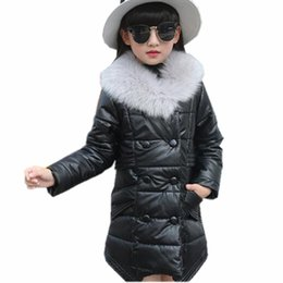 2020 New Fashion Children Winter Jacket Girl Winter Coat Kids Warm Thick Fur Collar Hooded long down Coats For Teenage 4Y 14Y