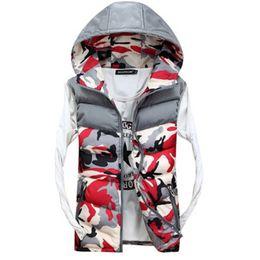 Wholesale Casual Male Camouflage Vest - XD0941 Men's Hooded Camouflage Vests Men Women Winter Sleeveless Casual Jackets Male Slim Camo Waistcoats XXXXL