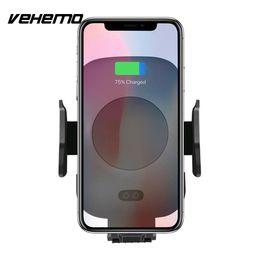 держатели автомобильных телефонов Скидка Vehemo Qi беспроводной зарядное устройство GPS держатель автомобильный держатель автомобиля телефона портативного салона автомобиля держатель навигации