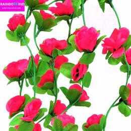 5pcs Wedding Decoration Diy 2m Artificial Rose Garland Silk Vine Flower  Plant Garlands Ivy Home Garden Floral Decoration From Dropshipping Suppliers