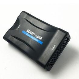 2019 convertire d'oro Adattatore per segnale HDMI Converter Scart AV HDMI 1080P per Monitor PC Smart phone