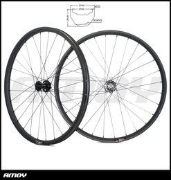 Wholesale carbon mtb wheel sets - 27.5er MTB AM ENDURO carbon wheels 34mm clincher tubeless wheelset 25mm deep UD 3K 12K 15X110mm 12X148mm SHN 10s 11s XX1 XD