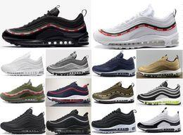 Wholesale golden rubbers - 2018 New 97 Men casual Shoes For Mens Sneaker Womens Fashion Athletic Sport Shoe Hot Corss Hiking Jogging Walking Black blue Golden Shoes