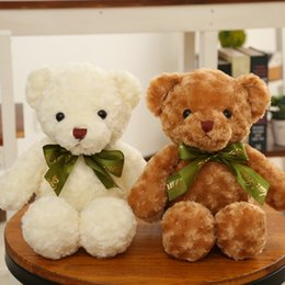 Wholesale Stuffed Animals Wedding Bears - Cute Teddy Bears Toys Soft Plush Kids Toys Simulation Stuffed Animals Bears Wedding Christmas Birthday Gift for Loves Kids