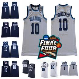 2018 Final Four Villanova Wildcats  10 Donte DiVincenzo 1 Jalen Brunson 25 Mikal  Bridges NCAA Champions Stitched Basketball Jersey 97acf597c