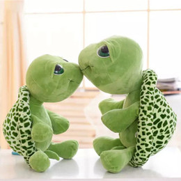 Grande tartaruga peluche occhio online-20 centimetri verde grande occhi peluche tartaruga tartaruga bambola giocattolo carino morbido bambini bambine ragazzi farcito peluche regalo giocattolo animale