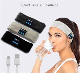 Wholesale Headband Headphone Brands - New Popular Wireless Bluetooth Headphones Sports Music Cap Smart Cap Earphones with Mic for Smart Phone