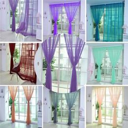 Тканевые панели онлайн-1 шт. чистый цвет тюль партия главная дверь занавес окна драпировка панели Sheer шарф подзоры высокое качество шторы