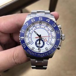 relógio grande homem branco Desconto Vendedor quente Homens de Luxo Relógios II 116680 Branco grande Dial cerâmica moldura relógio Automático Movimento safira Mens esporte Relógio De Pulso No Cronógrafo