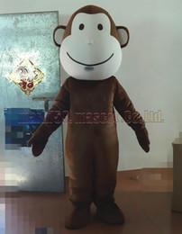 Wholesale monkey adult mascot - hot monkey mascot costume Free Shipping Adult Size,simian mascot luxury plush toy carnival party celebrates mascot factory sales.