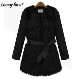 Wholesale Leather Sleeves Woman Parka - 2017 Fashion Winter Warm Coat Women's Faux Fur Coat Leather Outerwear Long Parkas Jackets Black