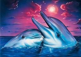 Deutschland Diy diamant malerei kreuzstich kit strass voll runde diamant stickerei tier niedlichen delphin home mosaik dekoration yx4002 cheap animal crossing dolphin Versorgung