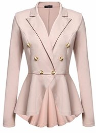 skirt style coats Coupons - women's blazer coat elegant lady style blazer jacket skirt suit for women ladies outerwear clothing