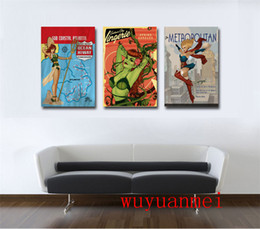 Wholesale Framed Comic - DC Comics Girl Superman , 3 Pieces Home Decor HD Printed Modern Art Painting on Canvas (Unframed Framed)