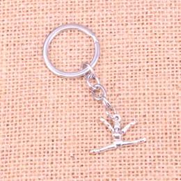 New Fashion 22 * 16mm Ginnastica ginnasta sporter KeyChain, New Fashion Handmade Portachiavi in metallo regalo del partito da