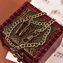 Chaîne de montres de poche en alliage de bronze chaîne pour montre de poche vintage quartz antique ? partir de fabricateur
